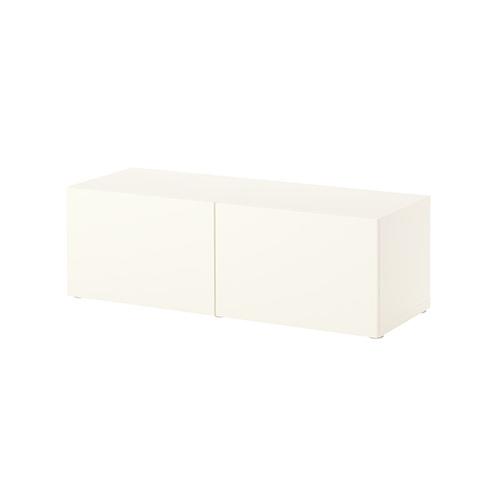 Besta Wall Cabinet Slim 2 Door Oak Glass Door Furniture Source