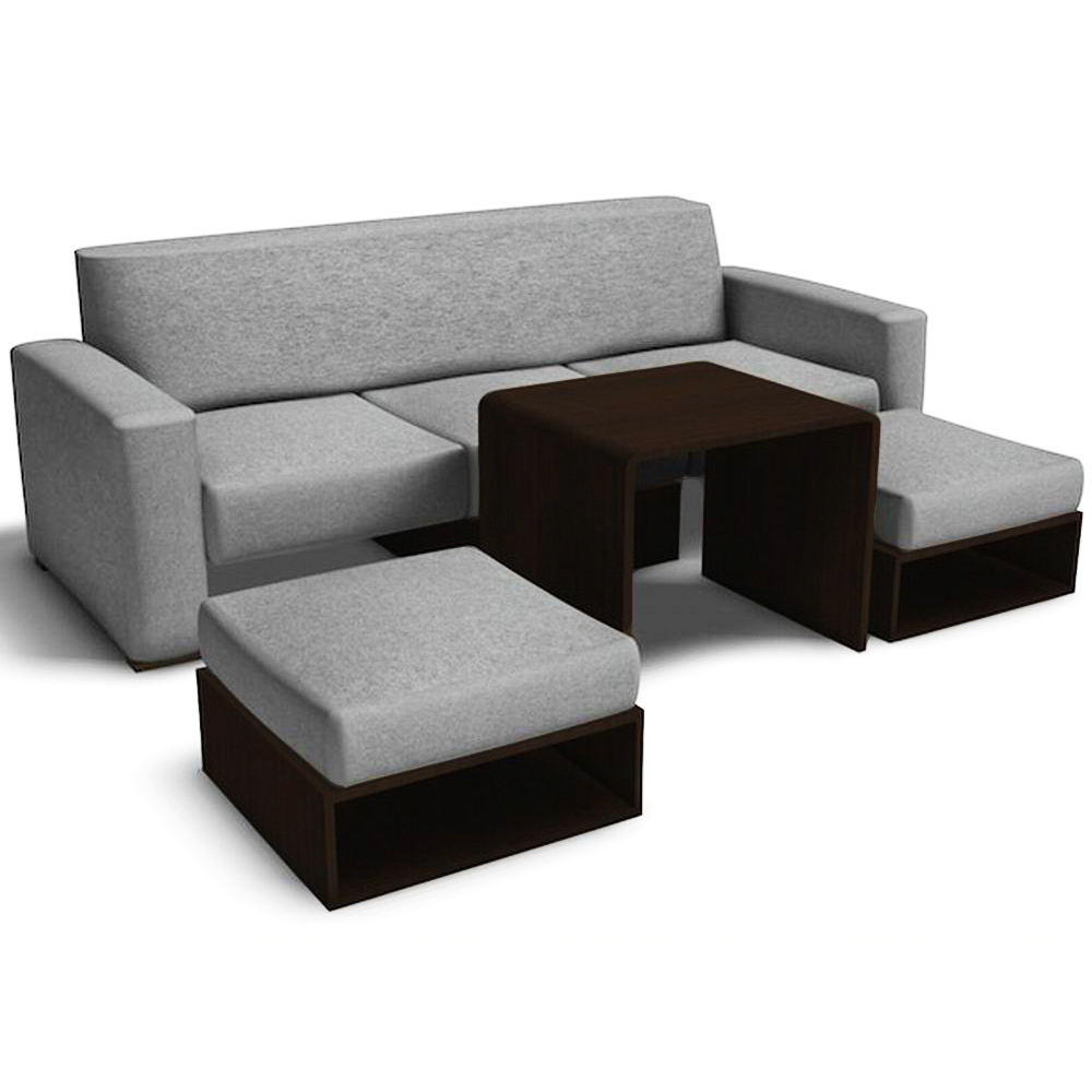 Sofa Set Philippines For Sale: Fred Leighton Sofabed Set (Light Gray)