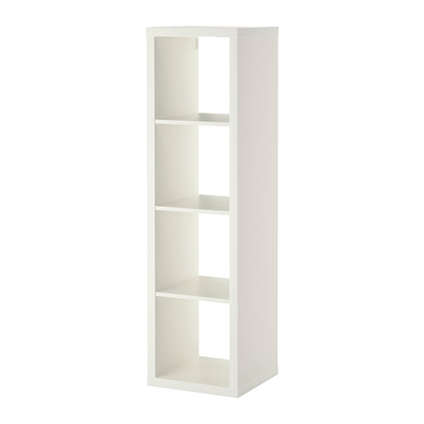 new concept 521be 9ddb1 Kallax Shelving Unit 1x4 Bookcase (White) - Konmari
