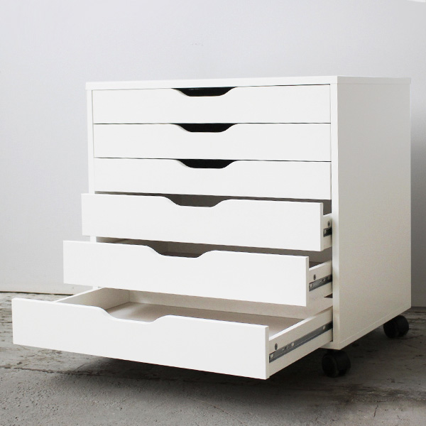 furniture source philippines alex drawer 6 unit on casters white. Black Bedroom Furniture Sets. Home Design Ideas