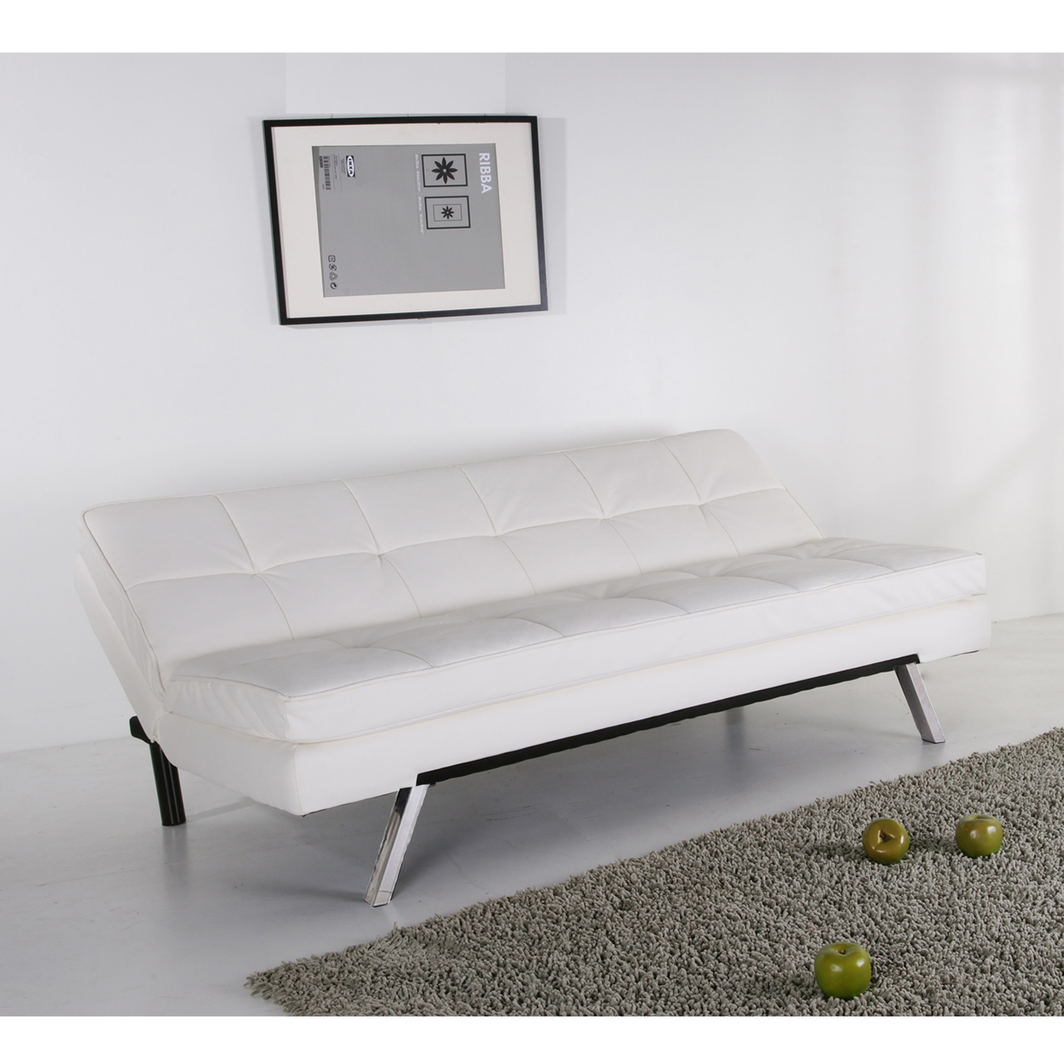 Furniture Source Philippines | Barkin Sofabed (White Faux Leather)