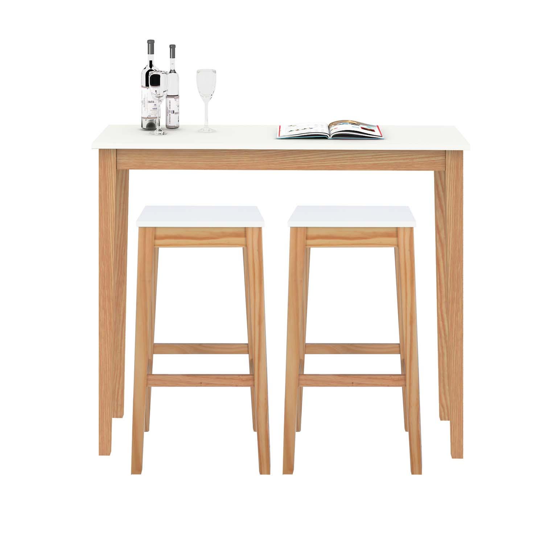 Furniture Source Philippines | Zara High Bar Stool & Table (White-Birch)