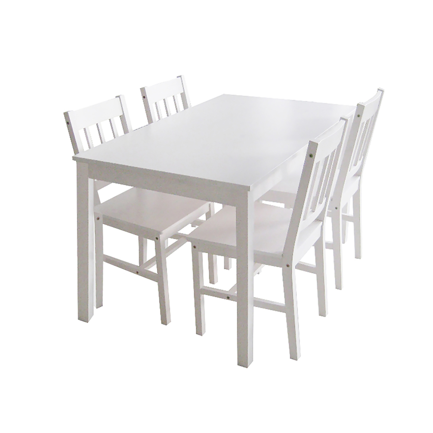 online store 289d7 932b2 Danetti Dining Set with 4 Chairs (White)