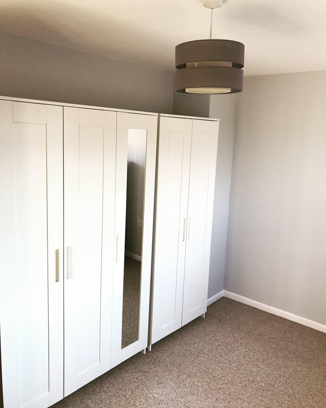 Brimnes Wardrobe 3 Doors (White)