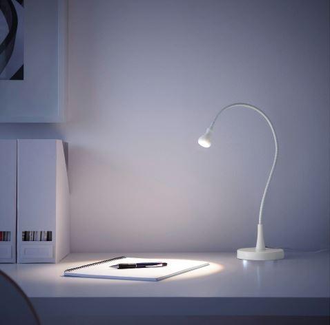 Jansjo Led Work Lamp White, Jansjo Desk Work Led Lamp